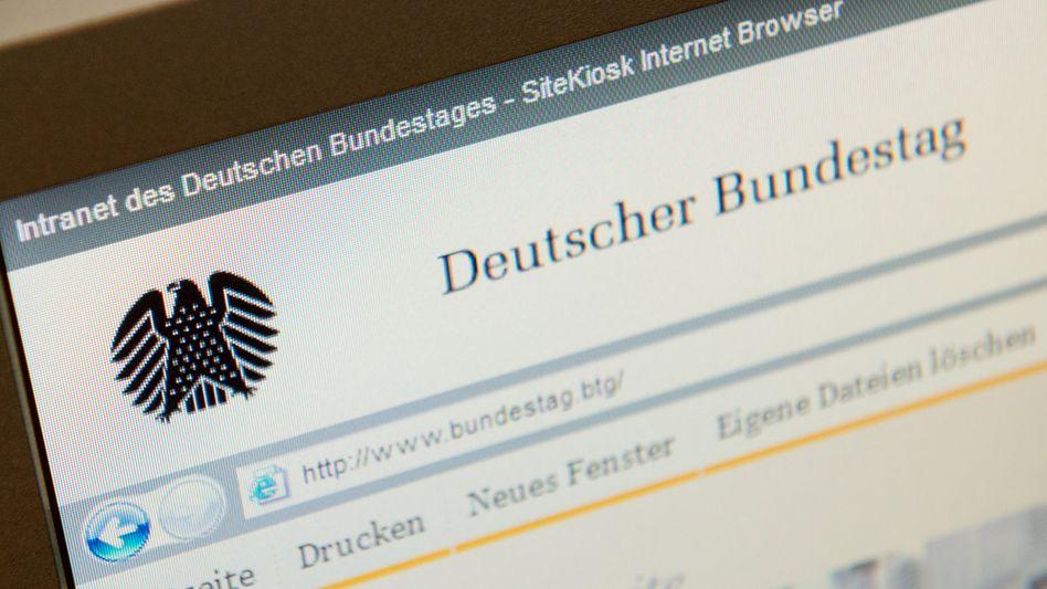 """Bundestagsintranet (Archivbild, Juni 2015): """"Die IT-Systemtechnik ist wieder hergestellt"""""""