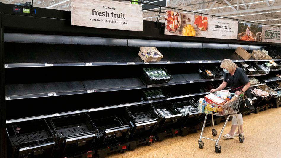 Supermarktregal in Cardiff