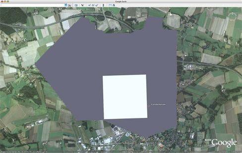 Weißer Fleck: Von Ganderkesee ist auf Google Earth nur wenig zu sehen