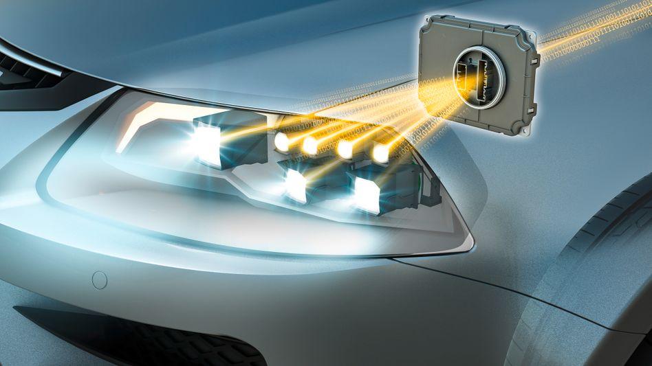 Osram Lampen im Autoscheinwerfer (Archiv/Illustration)