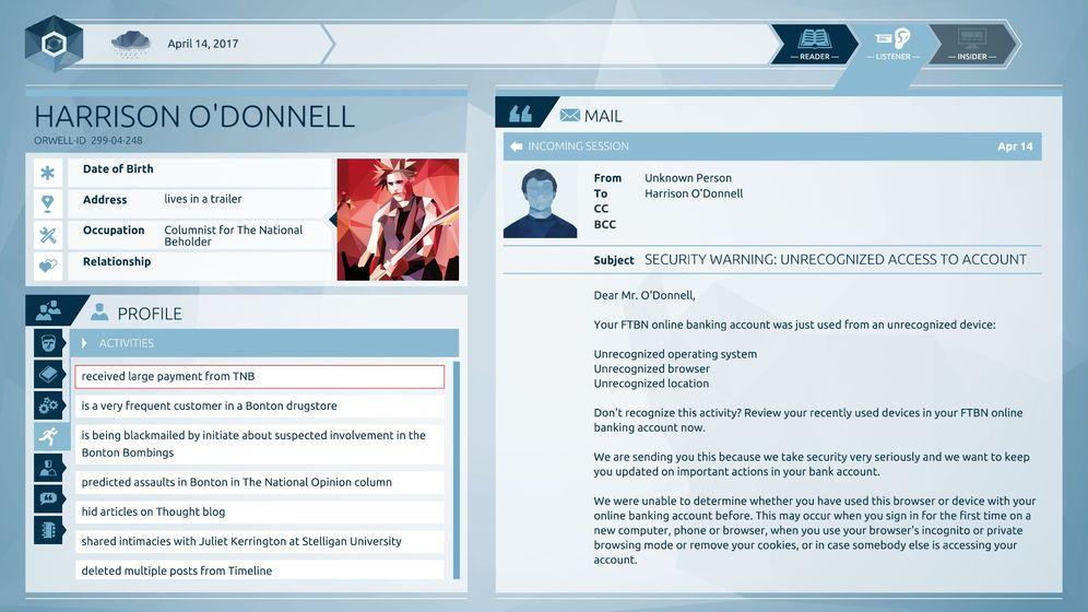 """Spiel """"Orwell"""" für PC: Alles ist verdächtig"""