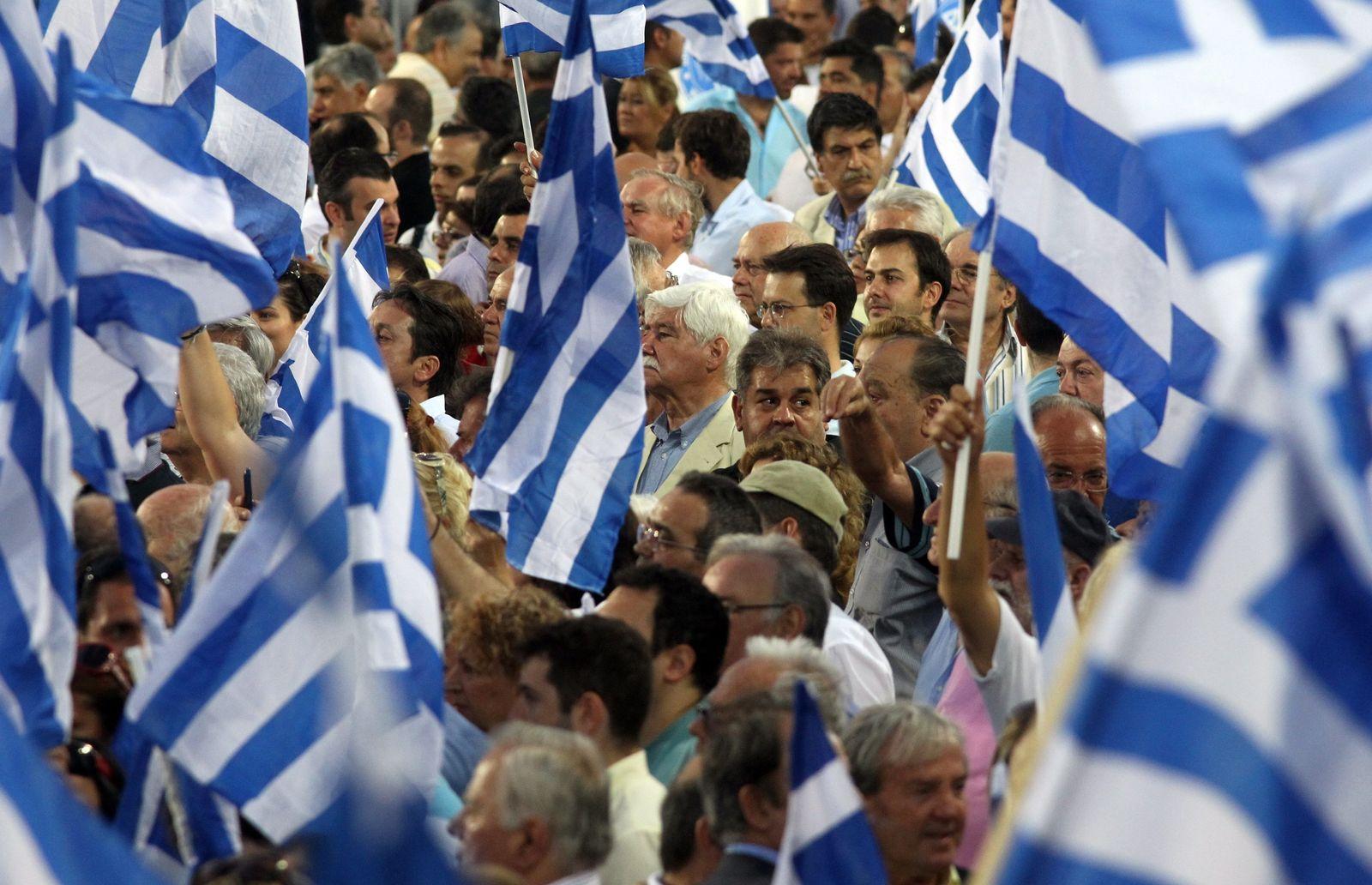Wahlen Griechenland/ Flaggen