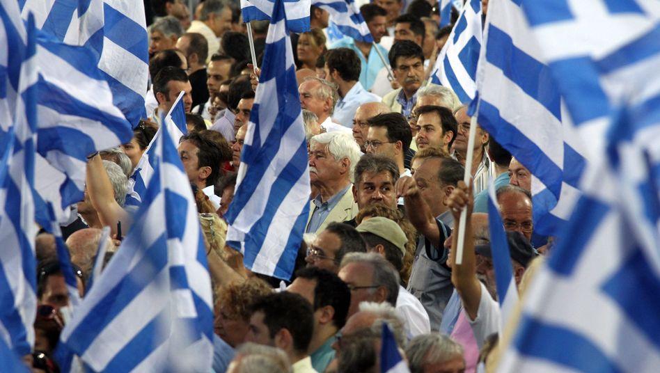 Anhänger der griechischen Konservativen: Am Tropf der internationalen Helfer