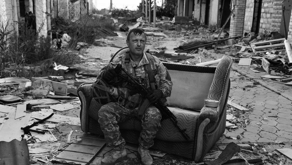 Krieg in der Ostukraine: Sogar der Kindergarten ist zerschossen