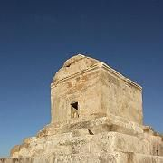 The limestone tomb at Pasargadae of King Cyrus the Great.