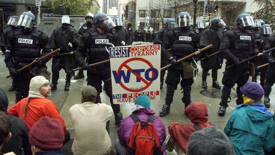 Anti-WTO-Proteste in Seattle 1999: Gegen jene Organisation, die Regeln bringen sollte