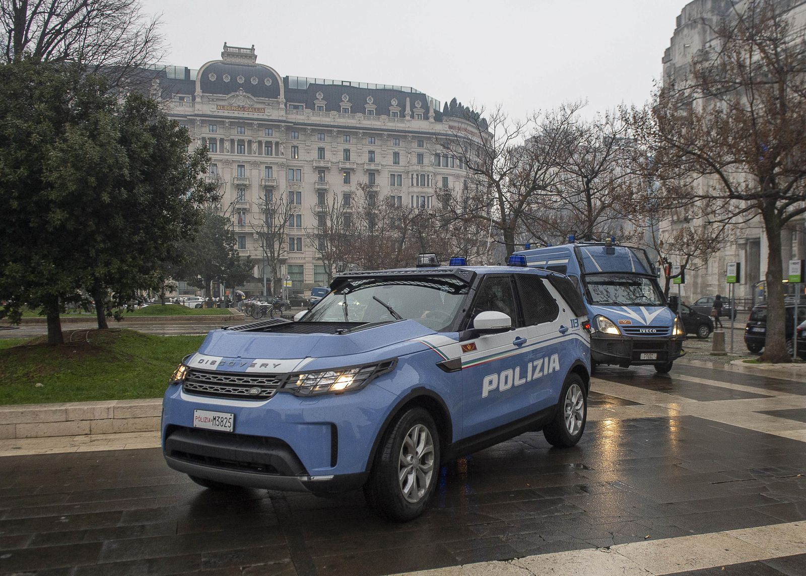 Police controls in Milan during lockdown, Milano, Italy - 20 Jan 2021