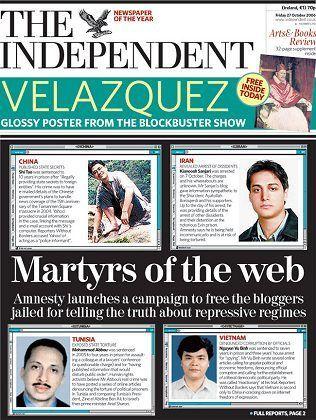 """""""Independent""""-Titelseite: Ein Gesicht für die """"Fälle"""" der Verhafteten"""