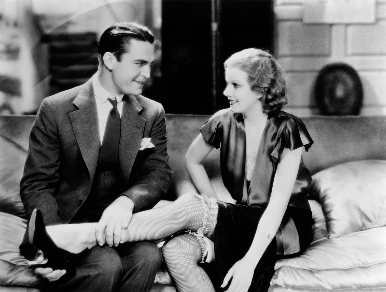 "Chester Morris and Jean Harlow in ""Red Headed Woman"" 1932 MGM ** I.V. / M.T."