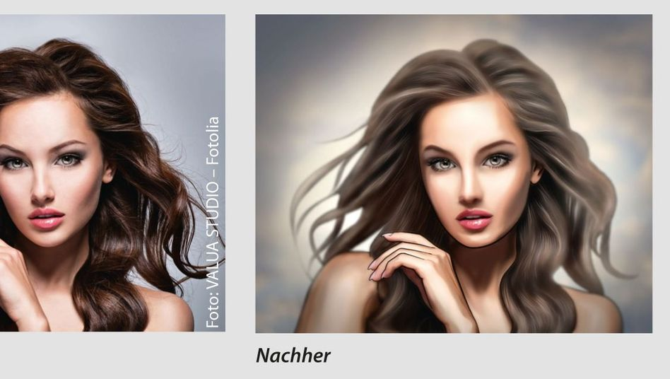Model vor und nach der Bearbeitung: Der Photoshop-Einsatz ist unübersehbar