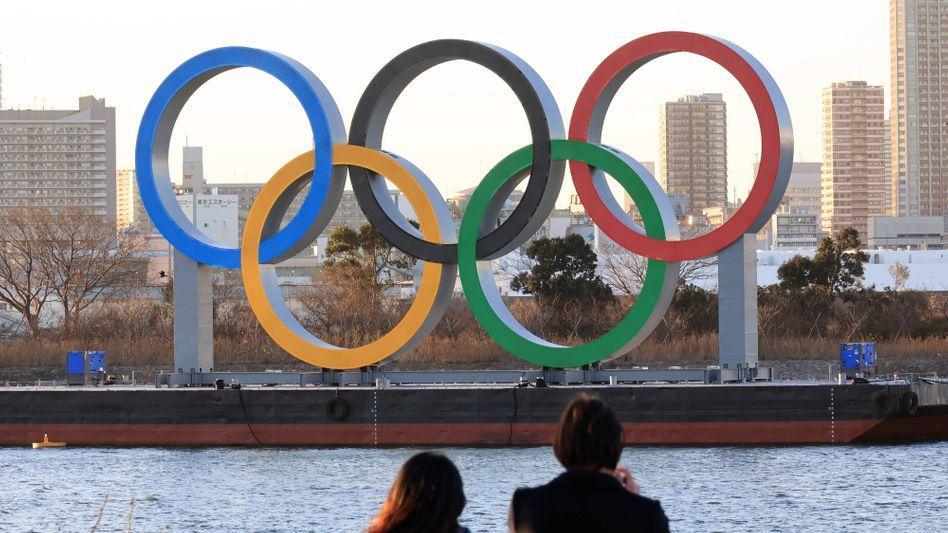 Olympische Ringe in Tokio (Archivbild)