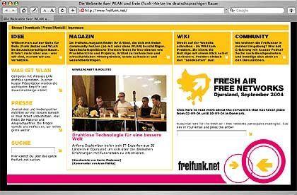 Freifunk-Webseite: Alternative Infrastruktur für die Region Berlin