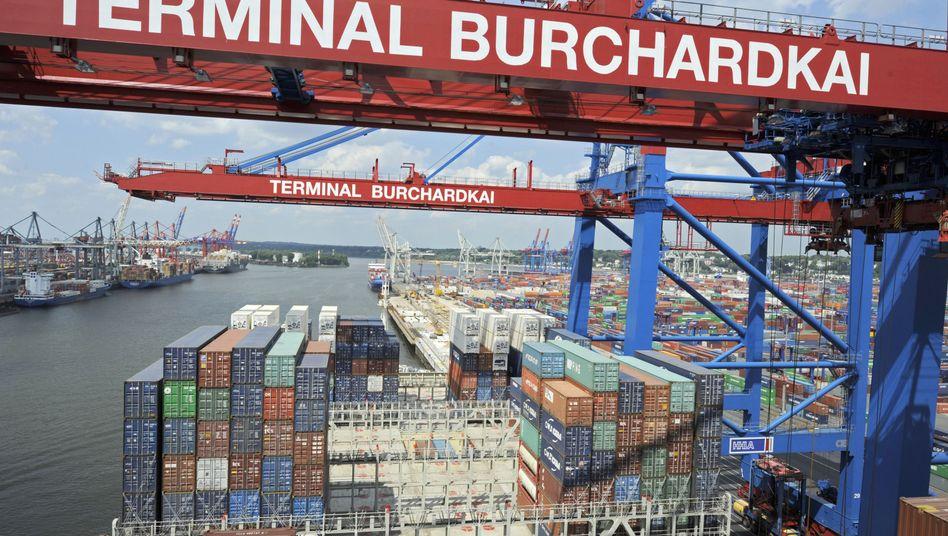 Hamburger Hafen: Bruttoinlandsprodukt stärker gewachsen