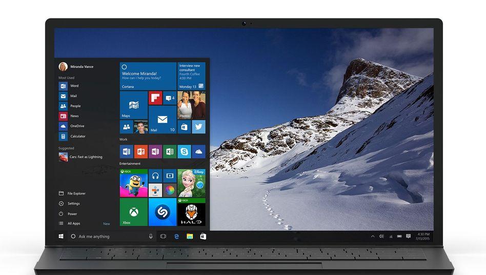 Notebook mit Windows 10 (Symbolbild)