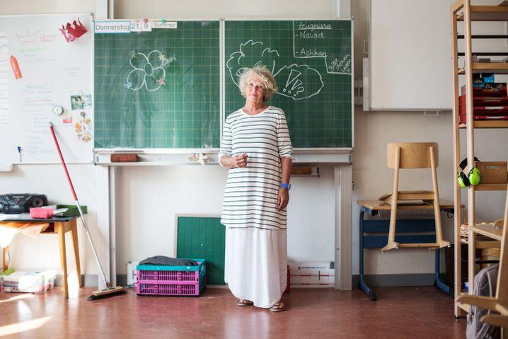 Barbara Sengelhoff in her classroom