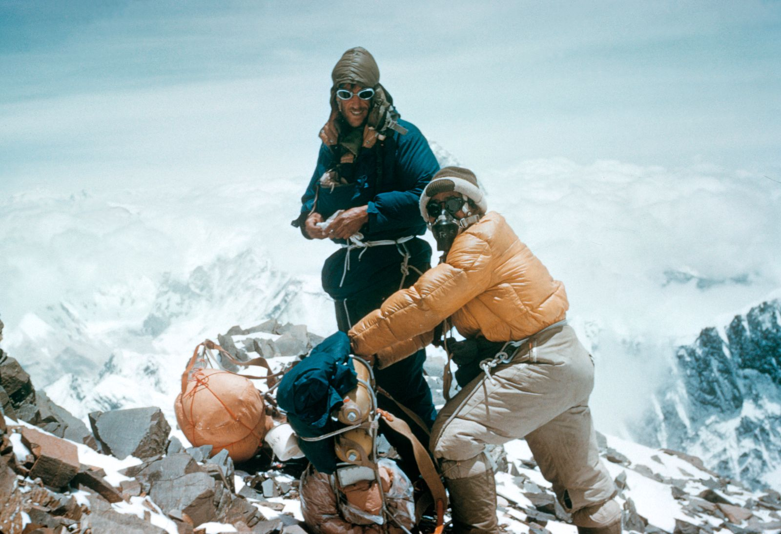 E.Hillary u.T.Norgay, Erstbesteigung des Mount Everest 1953 - E.Hillary & T.Norgay, Climb of Mt.Everest / Photo / 1953 -