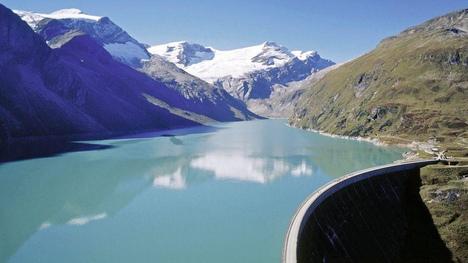 Stausee des Wasserkraftwerks Kaprun in Österreich
