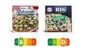 Zwei Fertigpizzas, ganz unterschiedliche Noten