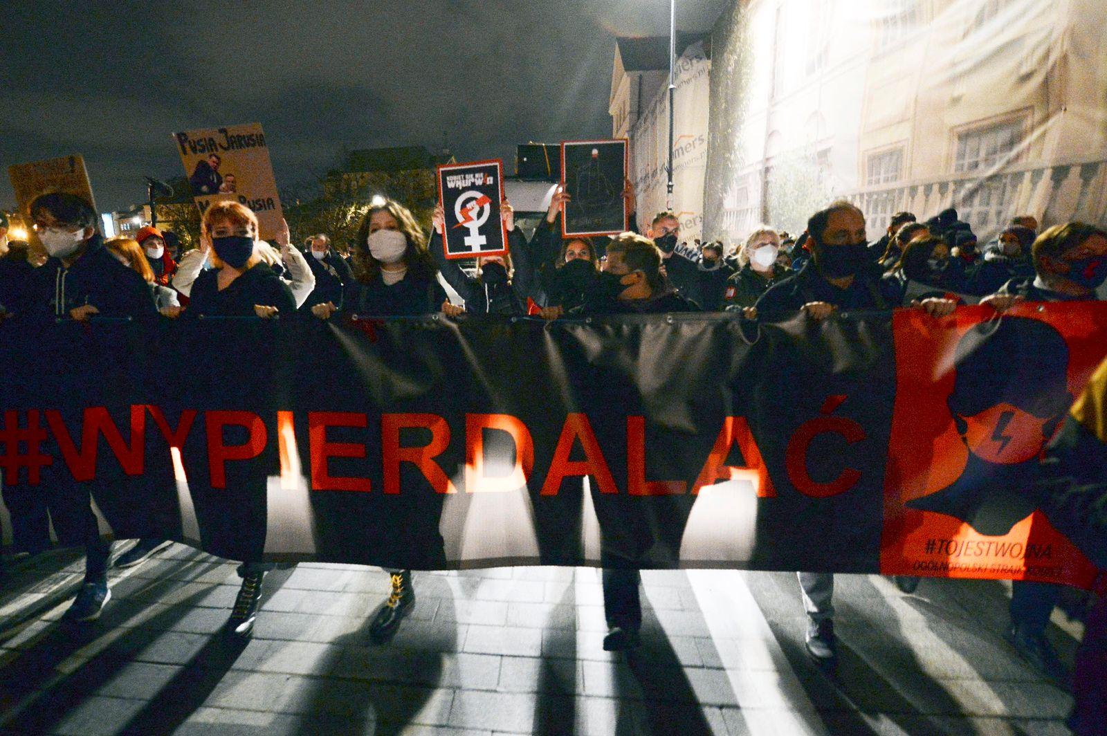 Proteste gegen Verschärfung des Abtreibungsverbots in Polen