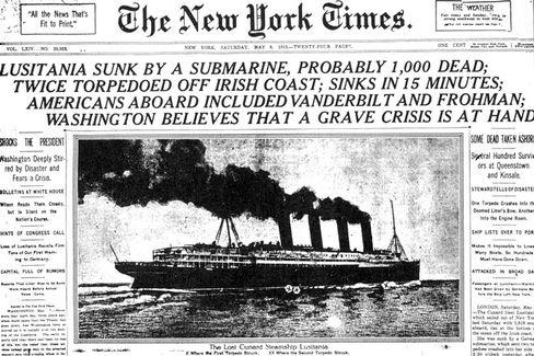 """""""New York Times"""" (1915): Sind die Print-Dampfer vom Untergang bedroht?"""