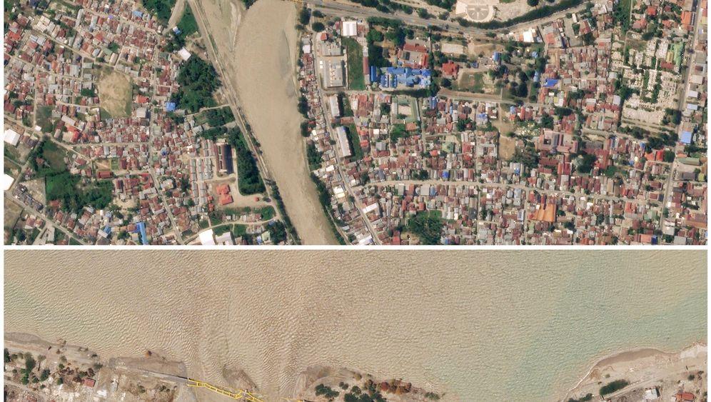 Indonesien: Satellitenbilder der verwüsteten Insel