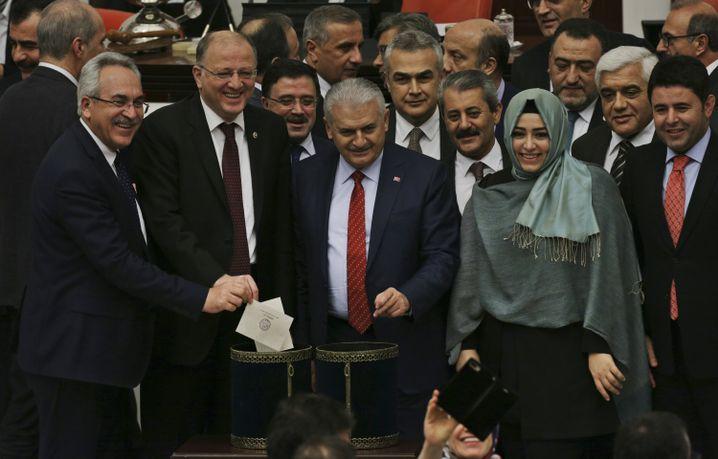 Abstimmung im türkischen Parlament