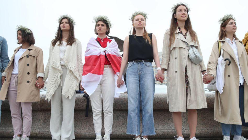 Regierungsgegnerinnen in Minsk (Foto vom 23. August)