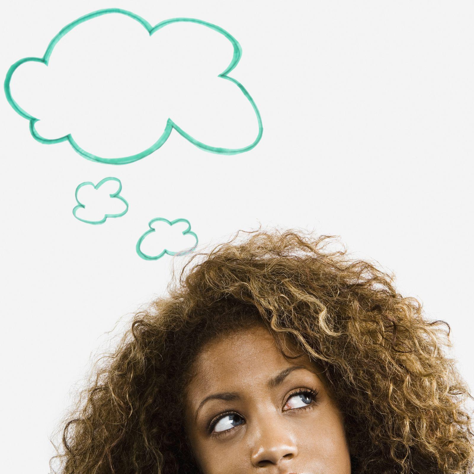 NICHT MEHR VERWENDEN! - Symbolbild / Denken / Kreativität / Denkblase / Grübeln NEU