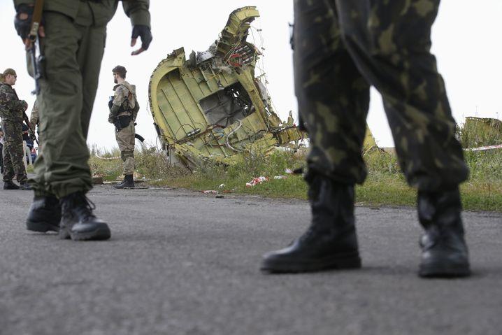 Absturzstelle in der Ostukraine