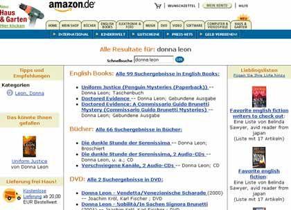 """Screenshot von Amazon.de: """"Nicht weiter auswringen lassen"""""""