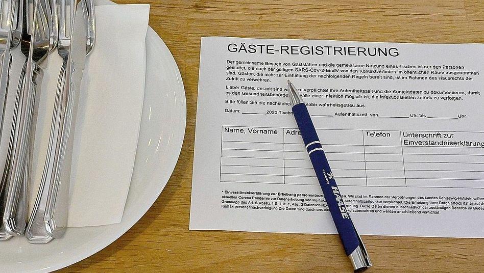 Meldeschein in Schleswig-Holstein:Datenspur ungekannten Ausmaßes