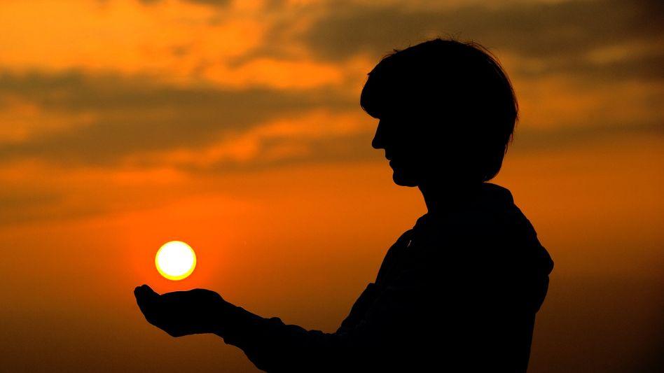 Sonnenuntergang in Brandenburg: Auch in Deutschland war der April wärmer als üblich