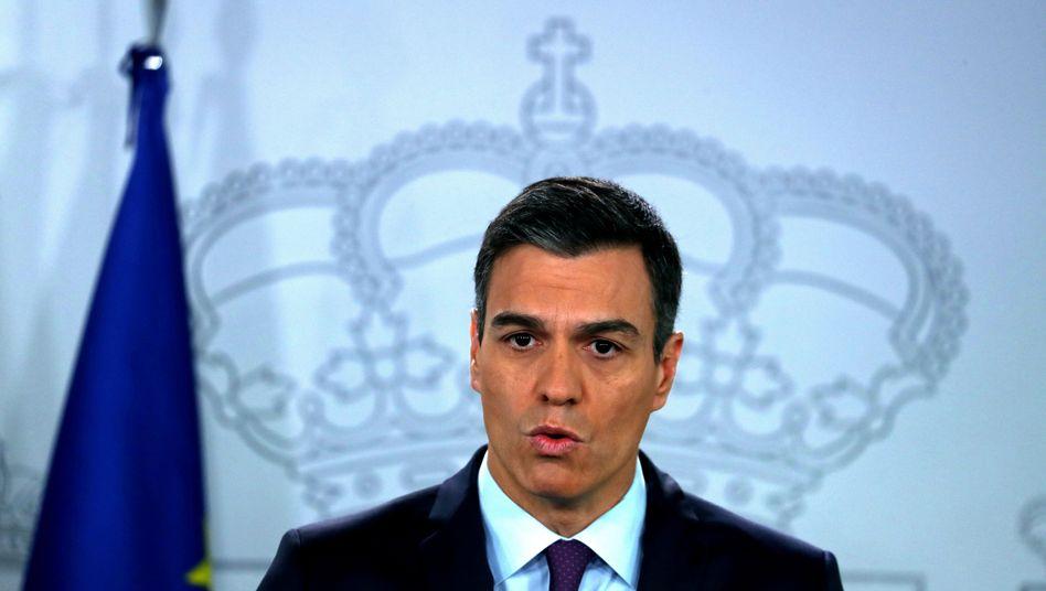 Regierungschef Pedro Sánchez