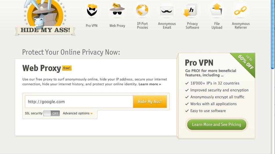 Website von HideMyAss.com: Kriminelle sollten sich auf das Versprechen nicht verlassen