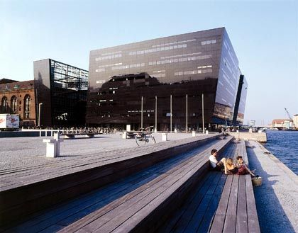 "Copenhagen's ""Black Diamond,"" which houses the Royal Library, has become a symbol of the city's cutting-edge design."