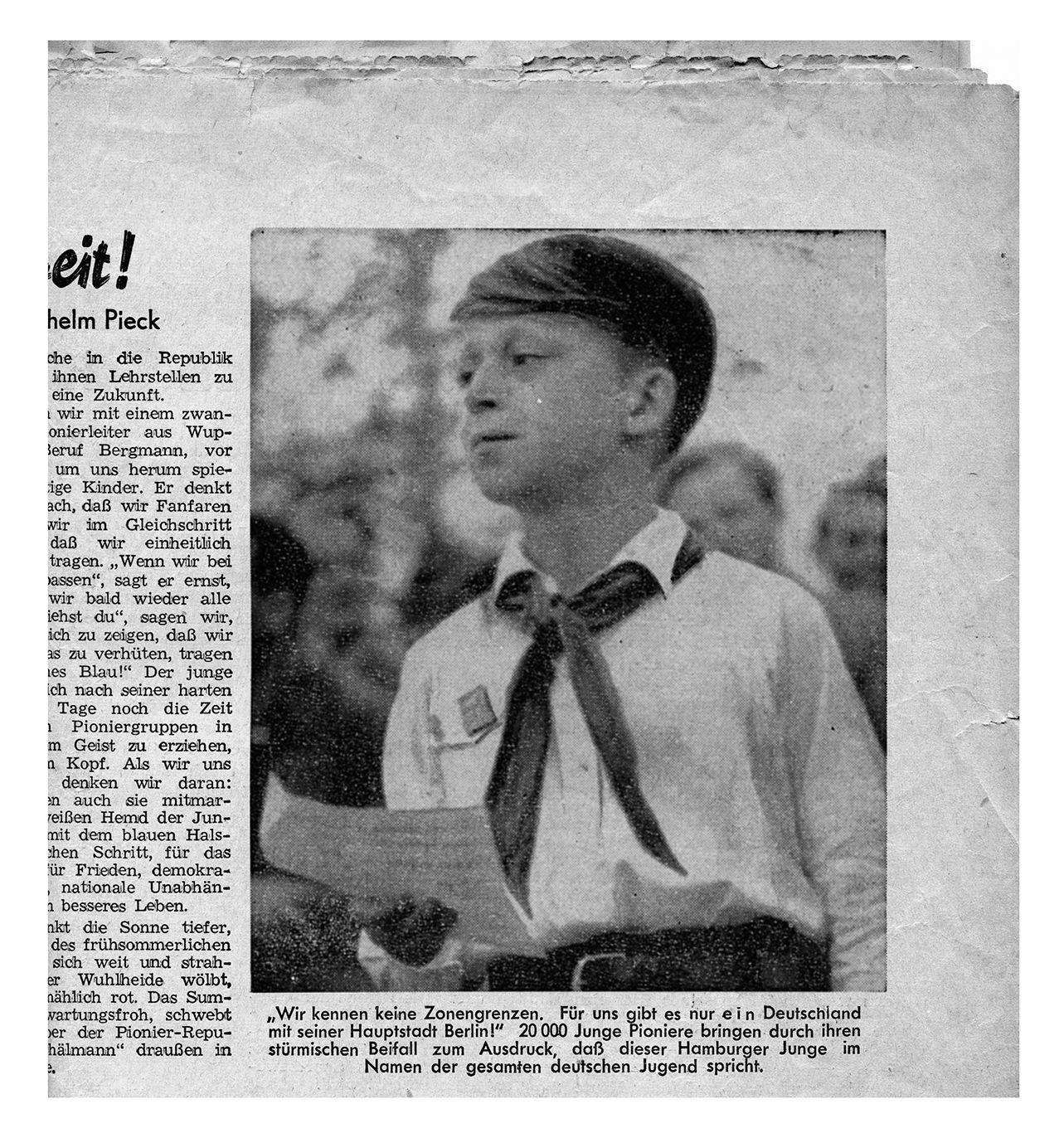 EINMALIGE VERWENDUNG SPIEGEL Plus FDJ-Zeitung Junge Welt zeigt Wolf Biermann