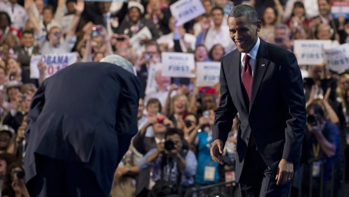 Clinton und Obama: Vereint für eine zweite Amtszeit