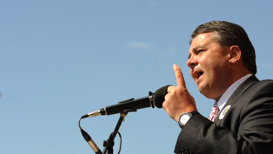 SPD-Vorsitzender Gabriel (im Mai in Salzgitter): Zahlreiche Kritiker