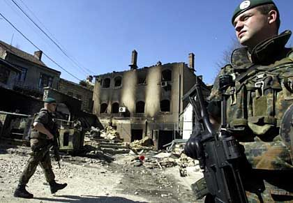German military patrol in Kosovo