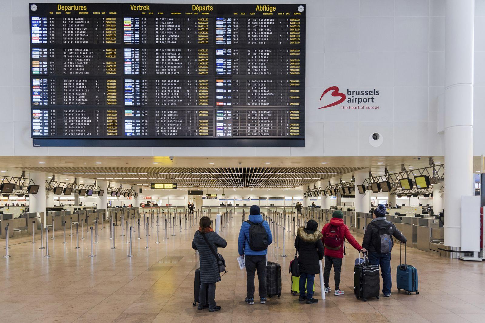 Flughafen Zaventem Streik/ Brüssel
