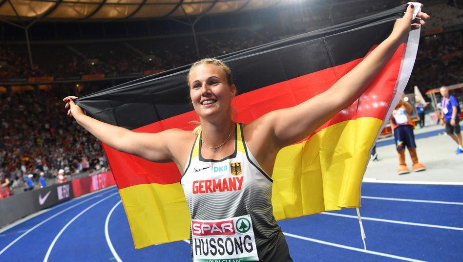 Europameisterin Christin Hussong