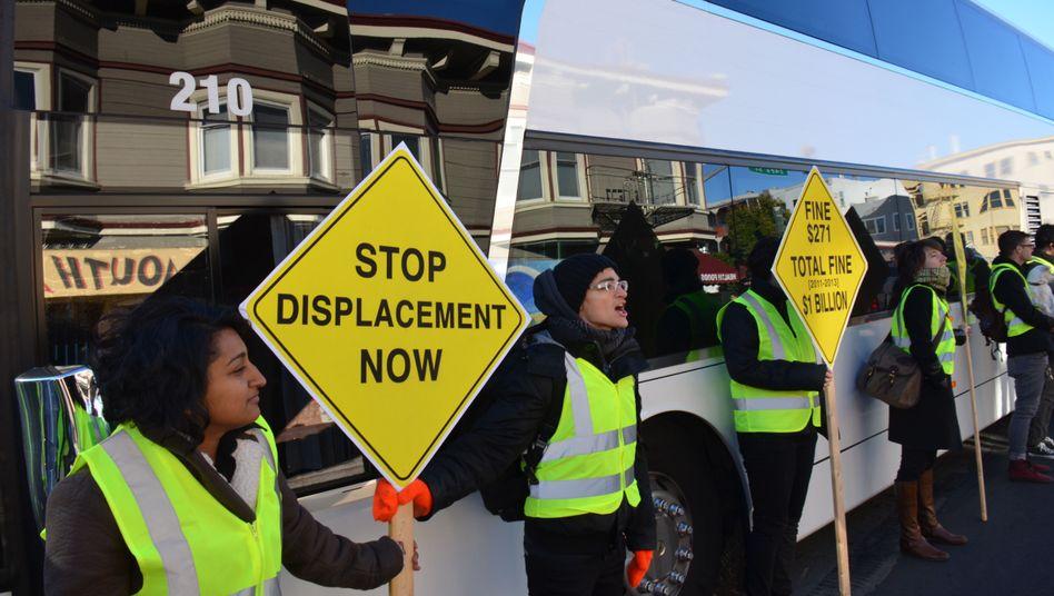 Protest gegen Google in San Francisco (9. Dezember): Die Wut wächst