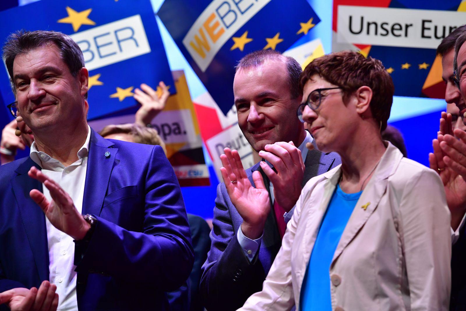 Söder, Weber, Kramp-Karrenbauer