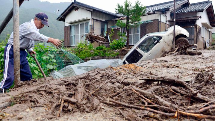 "Taifun: ""Neoguri"" tobt über Japan"