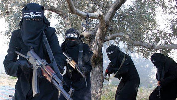 Dieser Screenshot eines Propagandavideos der IS-Miliz zeigt unbekannte Frauen der Terrororganisation
