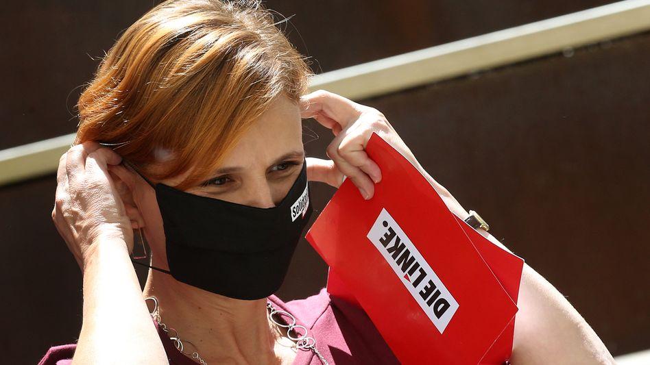 Linkenchefin Kipping: Mit Maske und Schnelltest gegen das Virus
