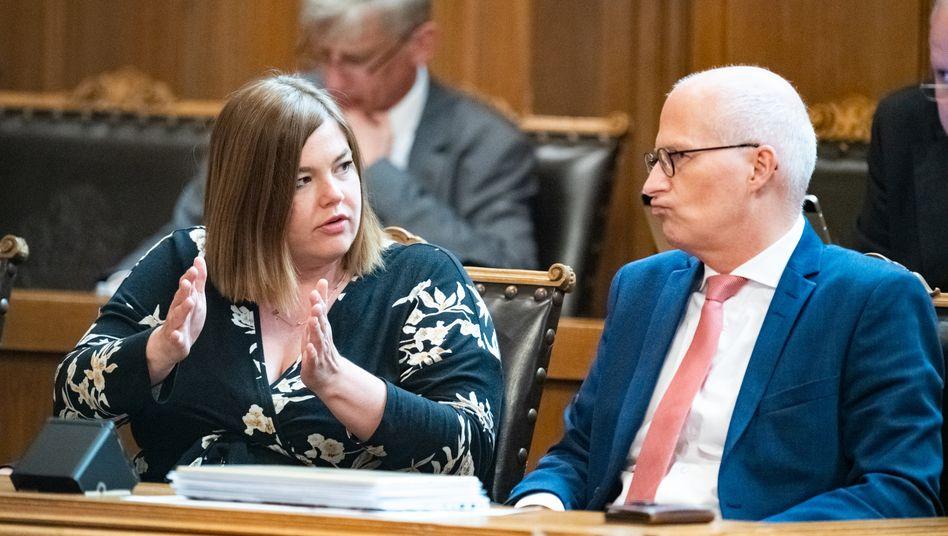 Katharina Fegebank, Peter Tschentscher: Koalitionspartner und Rivalen