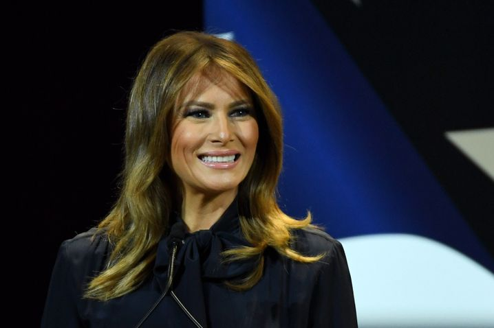 Melania Trump (Archivbild): Anruf in Deutschland