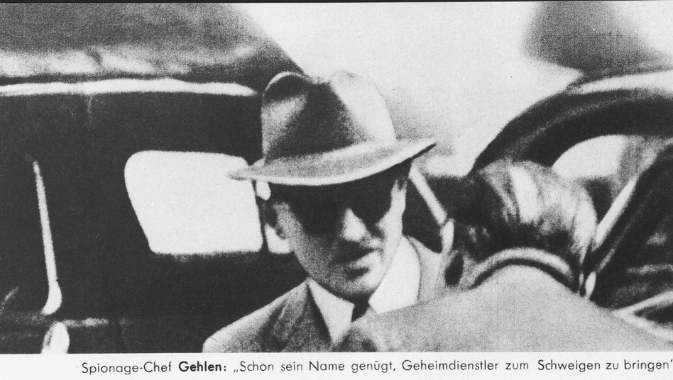 Geheimdienstchef Reinhard Gehlen in Hannover 1958