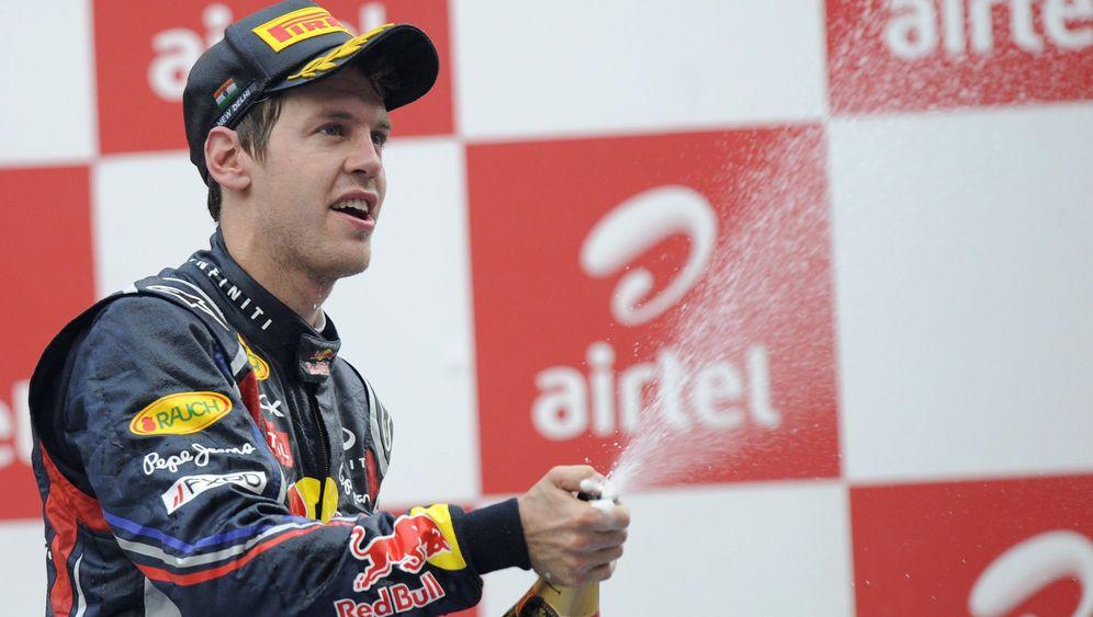 Grand Prix von Indien: Vettels unstillbarer Champagnerdurst